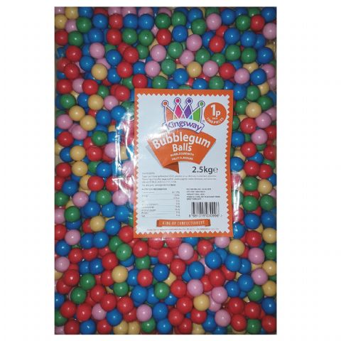 Bubblegum Balls - Mini Gumball Machine Refills Kingsway Wholesale Bulk Buy Bag 2.5kg